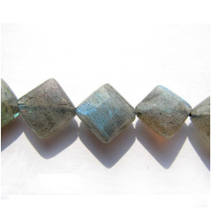 LA5014 Faceted Labradorite Square Box Diamond Beads,diagonal square beads