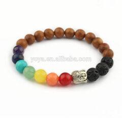 BRP1634D latest chakra bracelets essential oil elastic bracelets natural gemstone buddha women stretch bracelets