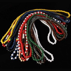 NW1004 Cheap Fashion Long Wrap Wooden Wood Beaded Boho Hiphop Necklace