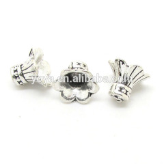 JS0954 trumpet shaped metal end caps for jewelry or tassels,drawstring end caps