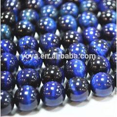 TE3011 Dyed blue tiger eye stone beads