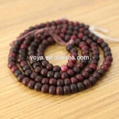 OB001-5 red Natural bone round beads