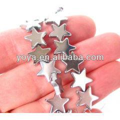 HB3011 Silver Hematite Star Beads