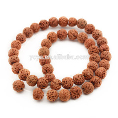 LB1016 In Bulk colorful Volcanic rock lava round beads,multicolor lava beads