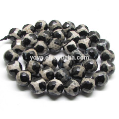 AB0039 Hot Sell Faceted Tibetan Agate Beads, Dzi Agate Beads
