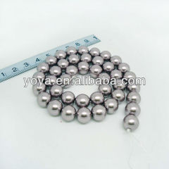 GS1001 grey south seashell grass pearl round beads loose strand