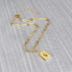 NZ1117  Trendy necklace  charm CZ pendant necklace,fashion brass with cubic zircon charm necklace
