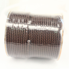 ST003 High Quality dark brown genuine braided leather cords for craft jewelry Making