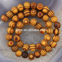 SB0698 Hot Sale Dark Natural Wooden Beads,Brown Grain Grainy Wood Beads,Stripe Wood Round Beads