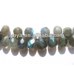 LA5012 Faceted Labradorite Teardrop Beads