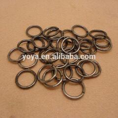 JFR1010 wholesale black gunmetal jump rings,open brass jump rings