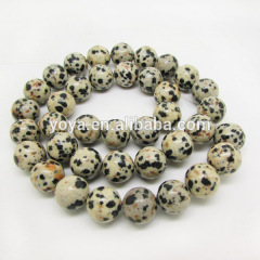 SB6204 Natural Dalmation Spot Jasper Beads,Natural Gemstone Beads,Round White and Black Spotted Beads
