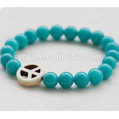 BRN1128 Fashion Summer Peace Charm Bracelet