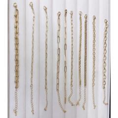 BM1014 Popular 18k gold Plated Chunky Paper Clip Horseshoe Link Metal Chain Bracelets for Women Girls