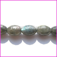 LA5013 Wholesale Faceted Labradorite Drum Beads,Natural Labradorite Gemstone Beads for Jewelry Making