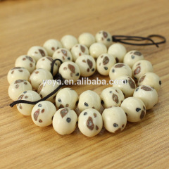 OB002 12mm Round engraving vintage OX Bone ball Beads