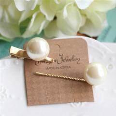 H1018 Trendy Big Pearl Hairpins Pearl Barrette Hair Pins