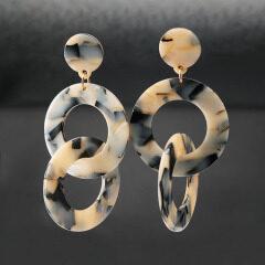 EA1008 bulk wholesale big hoop tortoiseshell earrings 2019