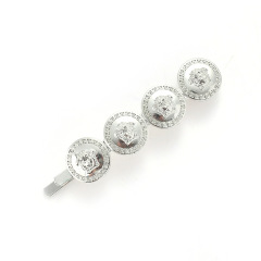 H1004 Popular Baroque Style Hair Pins Medallion Gold Coin Hair Pin Clips Gold Medusa Barrette Korean Hair Accessories