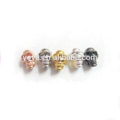 JF2111 Alloy Metal Skull Head Beads,skull beads