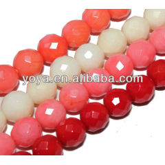 CB8009 Pink Faceted coral beads