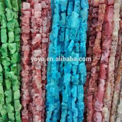 AB0370 Sparkly Quartz Druzy Rectangle Pendant Beads,drusy nugget beads