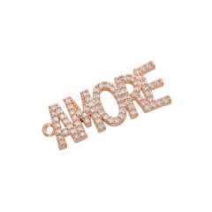 CZ8111 New Dainty Diamond CZ Micro Pave Letter Words Babe Charms for Bracelet