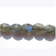 LA5016 Labradorite Faceted Drum Rice Beads