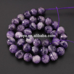CR5042 Good quality hot sale faceted dog teeth amethyst beads