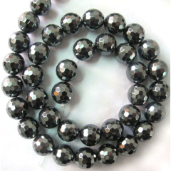 HB3003 Faceted Round Hematite Stone Beads,Natural Gemstone Hematite Stone Beads for DIY Jewelry Making