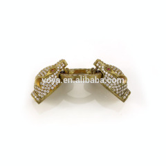 CZ6656 CZ micro pave Jewelry Making Supply, Gold leopard head Hook Clasps