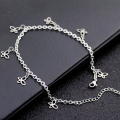 AC1010 Chic Dainty Beach Foot Jewelry Stainless Steel Chain with Star Charm Ankle Bracelet Anklets for Women Girls