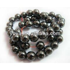 HB3002 Wholesale natural Black Hematite Gemstone Beads ,Round Loose Stone Beads