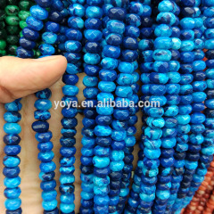 AB0630 Wholesale Faceted White Crazy Lace Agate Rondelle Beads,Faceted Agate Stone Abacus Beads