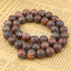 SB6228 Hotsale natural leopard skin jasper gemstone bead,loose stone bead from China manufacturer