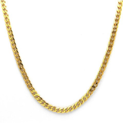 NS1054 Fashion Hip Hop Jewelry HIgh Quality Gold Plated Stainless Steel Cuban Link Chain Necklace for Men