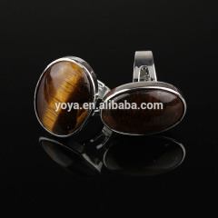 RG1033 Wholesale Oval Tiger eye Bezel Adjustable Ring