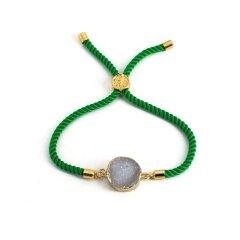 BN4009 handmade adjustable stone bracelet natural agate geode druzy jewelry