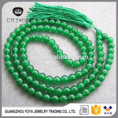 NE2018 Fashion rosary necklace, green jade beads necklace