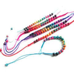 FL0894 Fashion Small Wood Beads Macrame Friendship Bracelet,cheap braided friendship bracelet