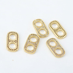 CZ8142 18k GOld Plated Diamond CZ Micro Pave Soda Tabs Charm Pendants