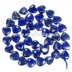 LL1023 Natural lapis lazuli heart beads,heart shaped lapis lazuli beads