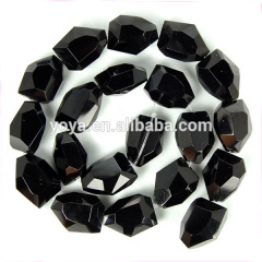 CR5029 Black faceted crystal nugget beads,crystal glass nugget beads