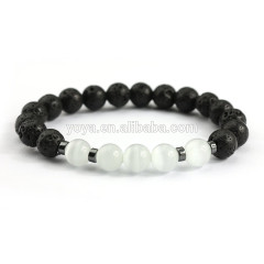BN1086 charm gemstone bead elastic bracelet, fashion stone bead essential oil ladies stretch bracelet