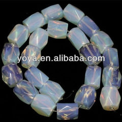 OB0829 Faceted Nugget Opalite opal beads,faceted tube synthetic opal beads