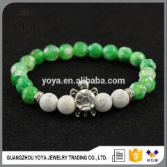 BAA1705 Wholesale gemstone tortoise bracelet,natural stone fire agate beads bracelet