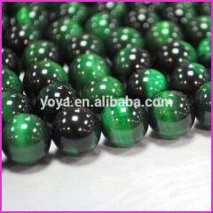 TE3003 green tiger eye stone,dyed green tigereye beads