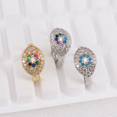 RM1099 Delicate CZ Evil Evileye Eye Ring, Ladies Engagement Ring CZ Promise Wedding Rings for Women Girls