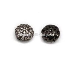 CZ7348 CZ micro pave flat spacer beads,Cubic zirconia diamond spacer charm