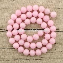 MJ1023 wholesale 16 Inches strand natural Mashan jade gemstone round loose beads jewelry